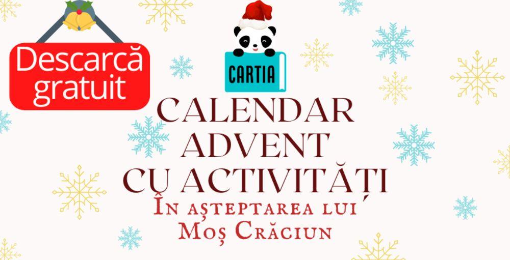 Calendar advent pentru copii de Craciun